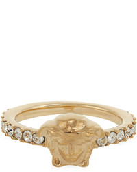 Versace Medusa Crystal Embellished Ring