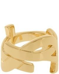 Saint Laurent Monogram Brass Ring