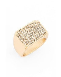 Topshop Pave Crystal Ring