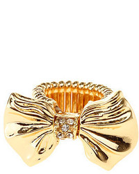 Charlotte Russe Rhinestone Bow Statet Ring