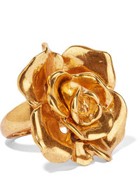 Oscar de la Renta Rosette Gold Tone Ring