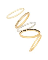 Madewell Set Of 5 Filat Stacking Rings