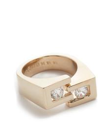Maison Margiela Splice Double Stone Ring
