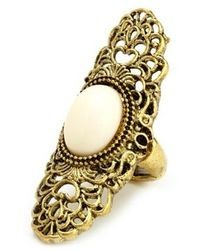 Charlotte Russe Stone Filigree Statet Ring