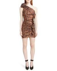 Isabel Marant Synee One Shoulder Metallic Jacquard Dress