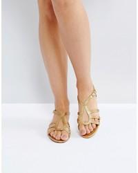 Mango Gold Rope Sandal