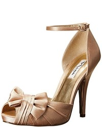 Gold Satin Pumps
