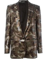 Tagliatore Camouflage Sequin Blazer