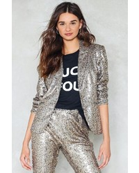 Nastygal dancing in the street sequin blazer medium 6471985