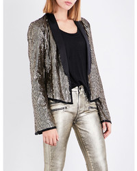 Rosie hw x paige kate sequin and silk blazer medium 6471983