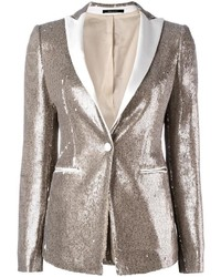 Sequin embellished blazer medium 1054740
