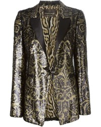 Roberto Cavalli Sequinned Arabesque Blazer