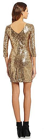 1ad1e54f88 ... Gold Sequin Bodycon Dresses Gianni Bini Fan Fav Gianna Sequined Dress  ...