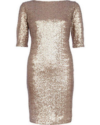 River Island Gold Sequin Bodycon Dress