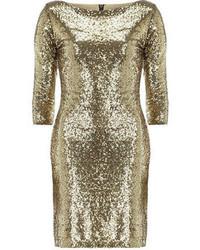 Alice & You Gold Sequin Bodycon Dress