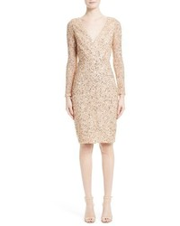 Rachel Gilbert Sequin Body Con Dress