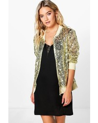 ef892216 Gold Sequin Bomber Jackets for Women | Women's Fashion | Lookastic.com