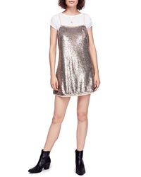 Free People Time To Shine Sequin Slipdress
