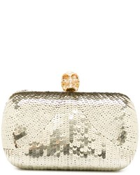 Alexander McQueen Skull Sequined Box Clutch