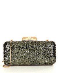 Belle Badgley Mischka Giada Sequined Minaudiere