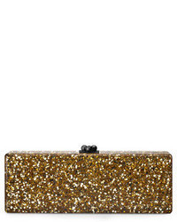 Flavia confetti acrylic clutch bag golden medium 46514