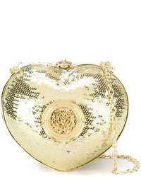 Love Moschino Sequinned Heart Clutch