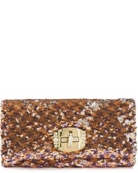 Night Market Sequin Embellished Clutch