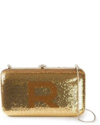 Rochas Sequin Embellished Logo Clutch