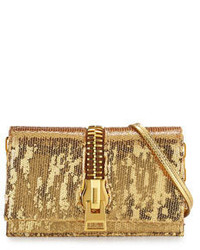 Tom Ford Sedgwick Allover Sequined Zip Clutch Bag Black