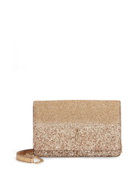 Jimmy Choo Varenne Glitter Leather Clutch