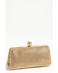 Whiting davis crystal mesh clutch gold medium 46521