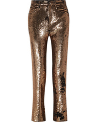 IRO Sequined Crepe Straight Leg Pants