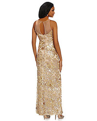 Belle Badgley Mischka Floral Sequin Gown | Where to buy & how to wear