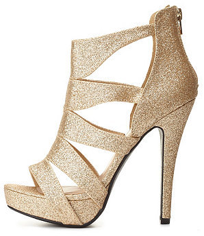 b1509cc7d55 ... Charlotte Russe Delicious Strappy Caged Glitter Platform Heels ...