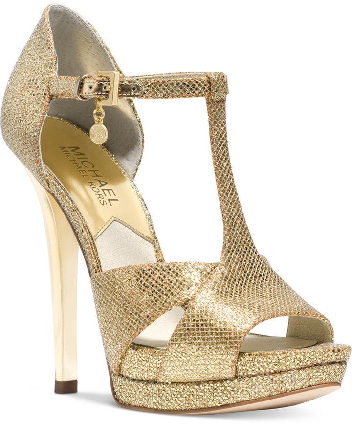 Michael Kors Gold Platform Sandals Platform Sandals Michael