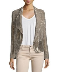 Chill sequin double breasted jacket gold medium 708483