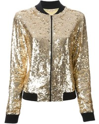 Sequin bomber jacket medium 112238