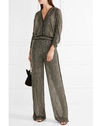 2a498bd03e36 ... Rachel Zoe Mavislow Embellished Silk Chiffon Jumpsuit Gold ...