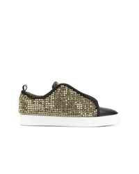 Gold Sequin Low Top Sneakers