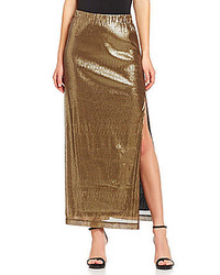 Michael Stars Michl Stars Metallic Sequined Maxi Skirt