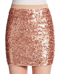 Bcbgmaxazria sequined mini skirt medium 228990