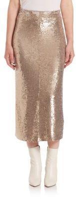IRO Bump Sequin Midi Skirt