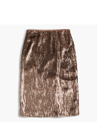 J.Crew Tall Rose Gold Sequin Skirt