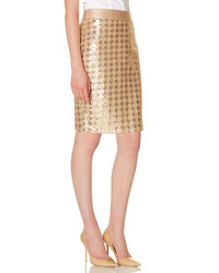 The Limited Houndstooth Sequin Pencil Skirt
