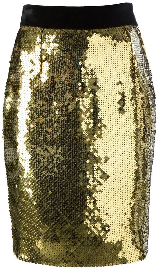 Moschino Vintage Sequined Pencil Skirt