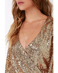 bbbdefd66a8d ... Good As Gild Gold Sequin Romper ...