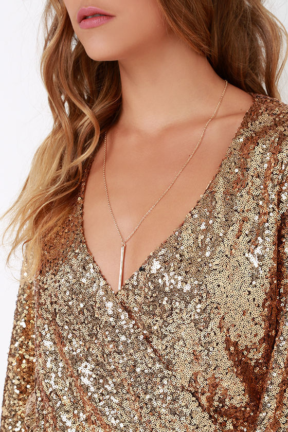 357bbc5f389b Good As Gild Gold Sequin Romper
