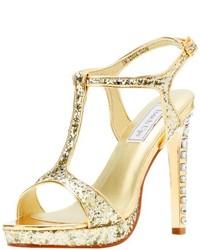 Gold Sequin Sandals for Women | Lookastic