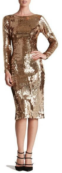 3772ebdb Dress the Population Emery Scoop Back Sequin Sheath Dress, $278 ...