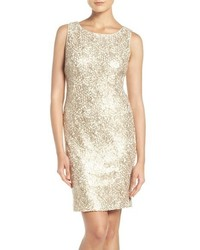 Sequin lace sheath dress medium 1006129
